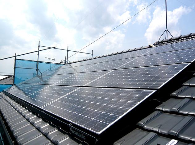 瓦屋根に太陽光発電パネルを設置(平瓦 支持瓦)