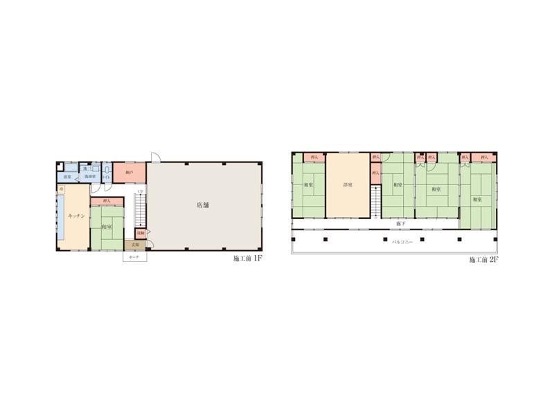 施工前(左:1階 右:2階)