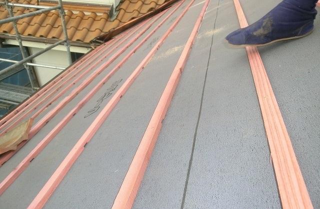 屋根防水シート貼り替え